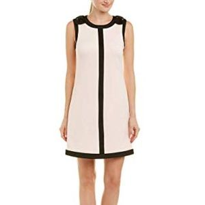 Betsey Johnson Pink Dress w Black Bow Detail NWT